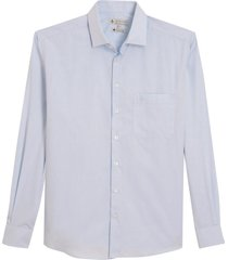 camisa dudalina manga longa tricoline fio tinto maquinetado masculina (branco, 48)