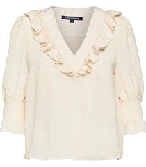crepe light ruffle blouse blouse lange mouwen crème french connection