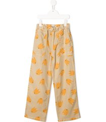 bobo choses all-over print trousers - neutrals