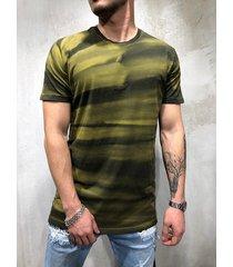 hombres verano casual algodón soft camiseta color block