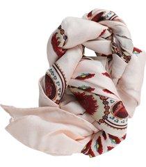 silk paisley print scarf