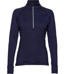 w rotation 1/4 zip t-shirts & tops long-sleeved blauw puma golf
