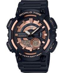 reloj casio aeq_110w_1a3v negro resina