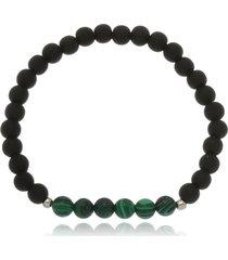 pulseira le diamond bolas emborrachadas e esferras mescladas verde