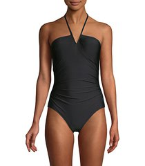 v-wire one-piece swimsuit