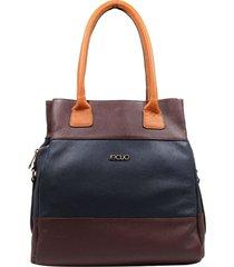 bolsa em couro recuo fashion bag totem roxo/azul