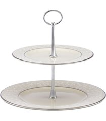 lenox serveware, pearl innocence 2 tier server