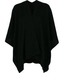 pringle of scotland cashmere shawl - 1200 black