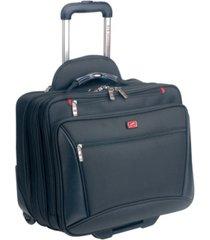 mancini biztech collection wheeled laptop/ tablet briefcase