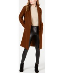 kendall + kylie single breasted drop shoulder wool coat