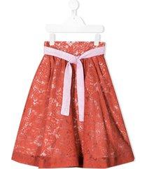 raspberry plum statement iva skirt - red