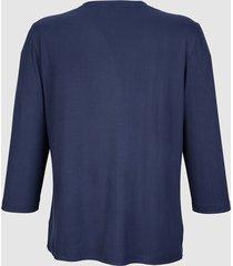 topp med spets fram dress in marinblå