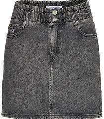 high rise mini skirt kort kjol grå calvin klein jeans