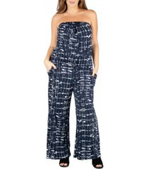 24seven comfort apparel women's plus size jumpsuit