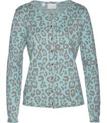 cardigan jacquard in misto seta (blu) - bpc selection premium