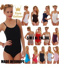 cotton womens bodysuit sleeveless thin strap vest bikini 1360 leotard body lady