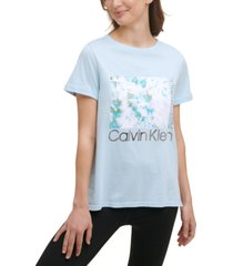 calvin klein performance women's graphic-print t-shirt