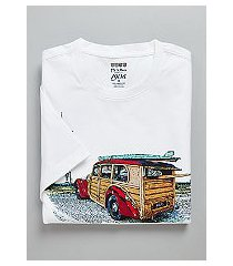 1905 collection tailored fit crew neck woody print t-shirt - big & tall