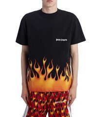 men's palm angels firestarter graphic t-shirt, size medium - black