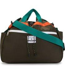as2ov twill drawstring shoulder bag - green