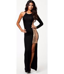 women lace long sleeve one shoulder evening cocktail sequin party maxi dress
