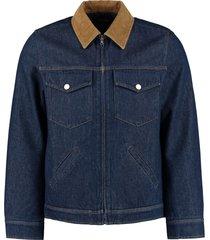 a.p.c. linden padded denim jacket