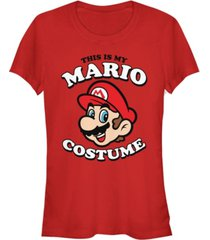 fifth sun nintendo women's super mario my mario costume short sleeve tee shirt