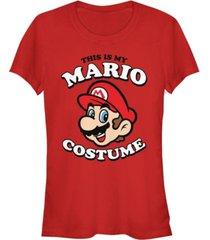 fifth sun nintendo women's super mario my mario costume short sleeve tee shirt