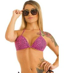biquini top single leopard feminino