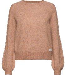 cool with wool sweater stickad tröja brun odd molly
