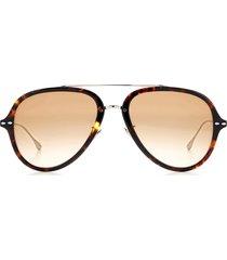 women's isabel marant 57mm gradient aviator sunglasses - havana silver/ brown gradient