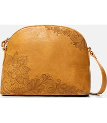 double face crossbody bag - yellow - u