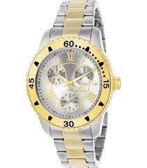 reloj invicta acero dorado modelo 217lg para dama, colección angel