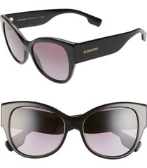 women's burberry 54mm butterfly sunglasses - black/ black gradient
