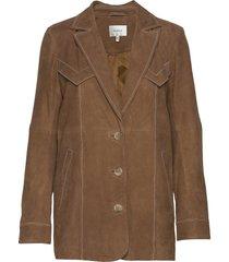 elliegz jacket hs20 läderjacka skinnjacka brun gestuz