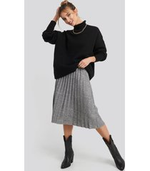 trendyol eyelash pleated knitted skirt - grey