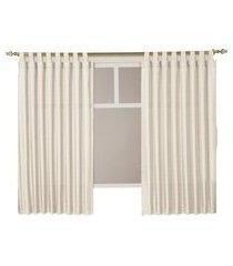 cortina casa d oro 220x180cm sultan poliéster 117gr/m2 creme
