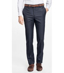 pantalón regent fit stretch wool azul brooks brothers