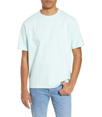 men's bp. oversize crewneck t-shirt, size large - blue/green