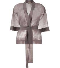 altea sheer belted cardigan - purple