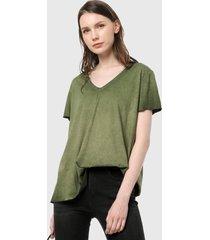 camiseta verde oliva desigual