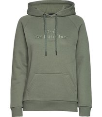 w original hood cold blush hoodie trui groen peak performance