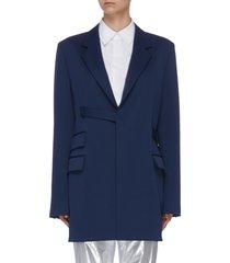 belted oversized blazer