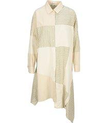 loewe oversize stripe patchwork dress