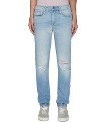 'l'homme' distress skinny jeans