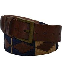 cinturón cuero bordado pampa café talla s raiquen