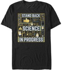 minions illumination men's despicable me 3 stand back, science in progress short sleeve t-shirt