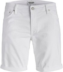korte broek jack & jones 12172403 jjirick jjfelix shorts am 149 white denim