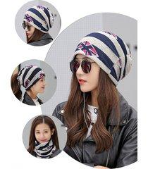 donna inverno caldo lana selvatica utile beanie cap outdoor shopping casual in bicicletta antivento cappello