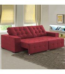 sofá 4 lugares retrátil e reclinável bahamas 8342 carmin - viero móveis